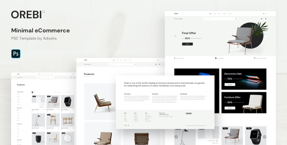 Orebi – Minimal eCommerce PSD Template