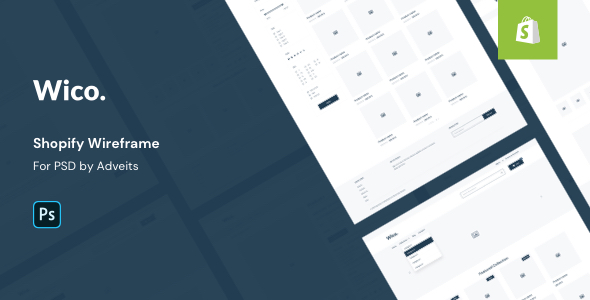 Wico – Shopify Wireframe for PSD