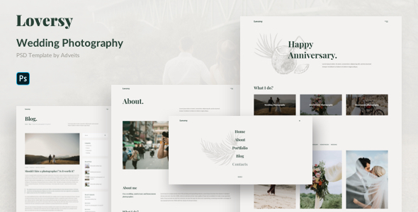 Loversy – Wedding Photography PSD Template