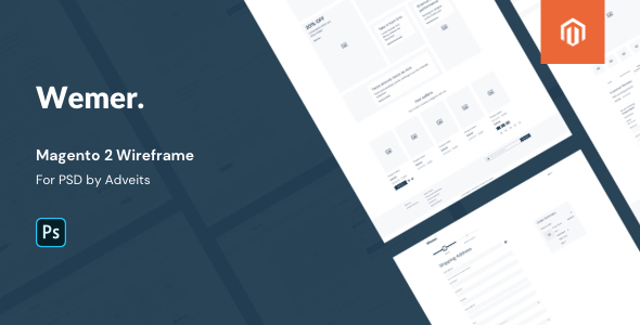 Wemer – Magento 2 Wireframe for PSD