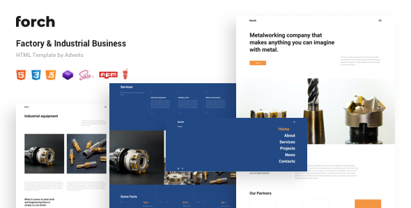 Forch – Factory & Industrial Business HTML Template