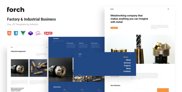 Forch – Factory & Industrial Business Vue JS Template